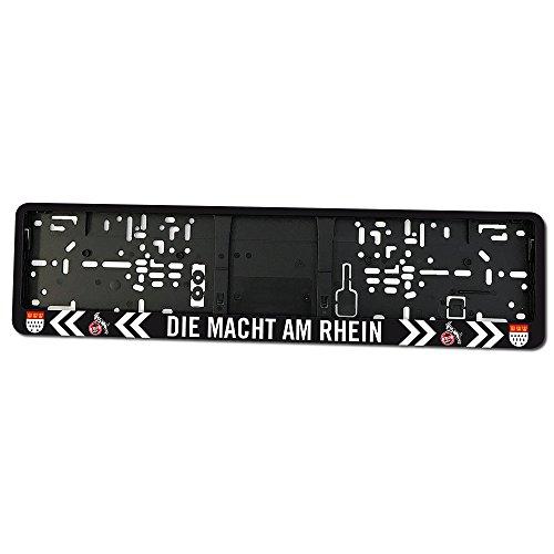 """Kennzeichenhalter Kennzeichenverstärker \""""Die Macht am Rhein\"""" 1. FC Köln"""
