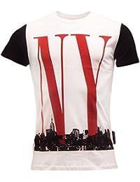 Criminal Damage T Shirt Mens Short Sleeve 'NY Skyline' T-Shirts New S M L XL XXL
