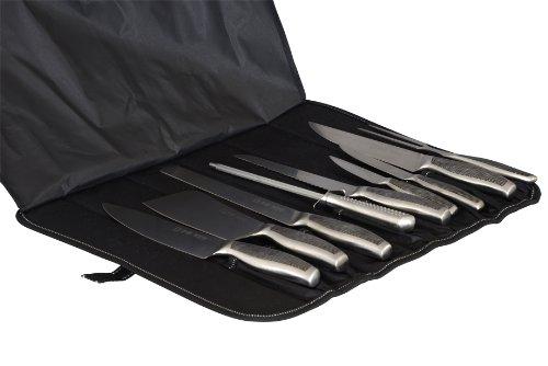Brandneues 9-teiliges Profi-Messerset in strapazierfähiger Canvastasche für Aufbewahrung und Transport