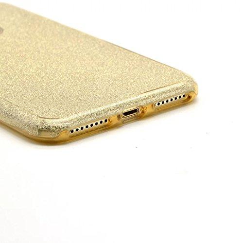 Custodia iPhone 7 TPU, iPhone 7 Cover ( 4.7 inch),Bonice iPhone 7 Glitter Bling Case Cover + 1x Protezione Dello Schermo Screen-Oro model 2