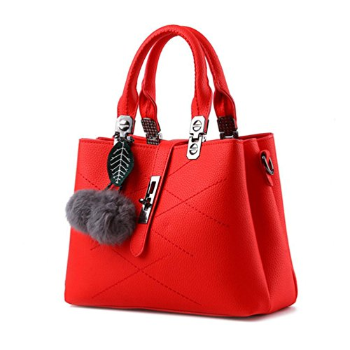 XibeiTrade - Borsa Ragazza donna Bright Red