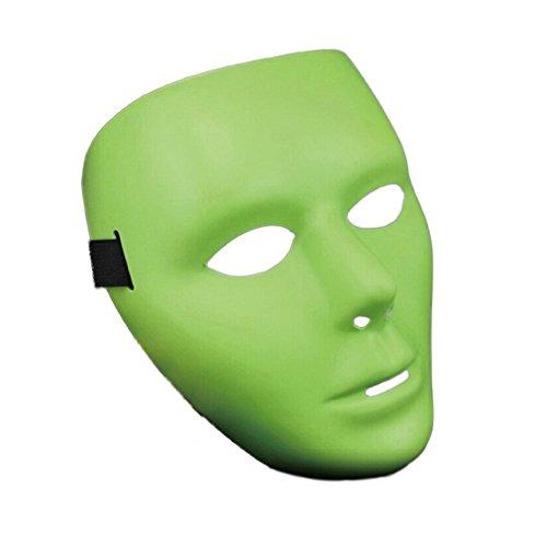 Yazilind Mode Ghost Head Masked Hip Hop Street Tanz Halloween Party Kostüm Masquerade Luminous Maske (Hip Hop Tanz Kostüm Männer)