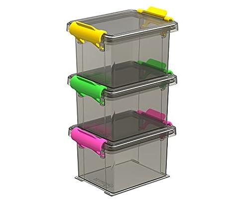 Petite Boite Rectangulaire - Sundis 4560002 Funcenter Boîte avec Clip Plastique