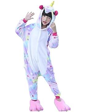 [Sponsorizzato]Semia Bambini Unisex Pigiama Caldo Flanella Tuta Animali Cosplay Halloween Natale Partito Costume Kigurumi Bambine...