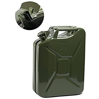 Opticare 20 Litre Green Metal Jerry Can (UN Approved, GS/TUV Certification)