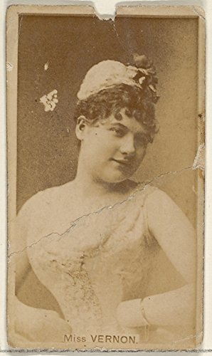 ' - Miss Vernon from The Actors and Actresses Series (N45 Type 8) for Virginia Brights Cigarettes Kunstdruck (45,72 x 60,96 cm) Vernon Serien