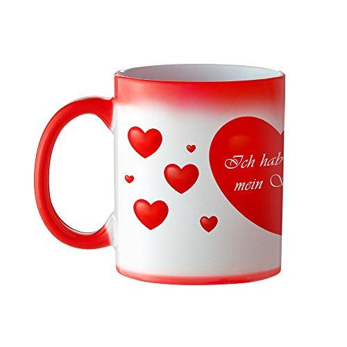 Magische Liebes Tasse - Standard - Zaubertasse mit Farbwechseleffekt - Origineller Kaffeebecher als romantisches Geburtstagsgeschenk