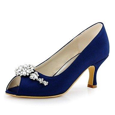 Rtry Femmes Chaussures Pompe Mariage Base Stretch Satin Printemps Eté Fête Mariage & Amp; Soirée Cristal Stiletto Heellight Rose Bleu Vert Bleu Marine Us6 / Eu36 / Uk4 / Cn36