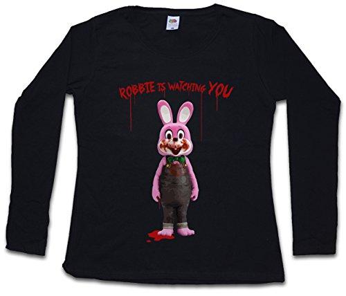Camiseta manga larga Robbie the evil rabbit (Mujer) (S a 5XL)