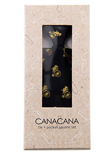 Canacana - Cravate - Motifs - Garçon Noir - Black with Yellow