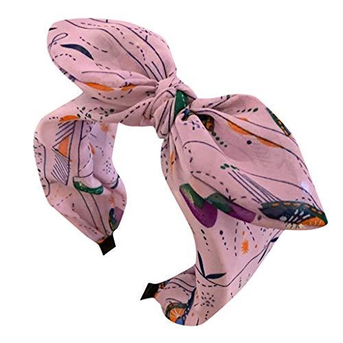 MAWOLY Haarband Mädchen Damen Sommer Bogen Farbblock Haarspange Drucken Strand Tuch Stirnband StirnbäNder SüßIgkeiten Weich Farbe NäHen Süß Zubehör