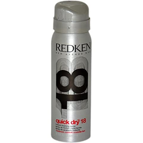 Quick Dry 18 Instant Finishing Spray Maximum Control by Redken for Unisex - 2 Ounce Hair Spray by Redken