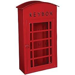 Scatola porta chiave - Forma cabina telefonica LONDRA - Colore ROSSO .