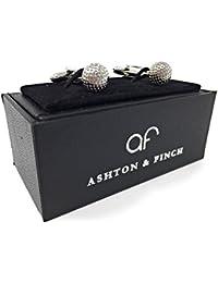 Ashton and Finch Silver Golf Ball Cufflinks in a FREE Luxury Presentation Box. Novelty Golf Sport Theme Jewellery