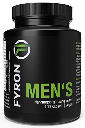 FYRON MENs + Vegan + 100 Kapseln + Top Produkt seit 2014 - Therapie Kapseln
