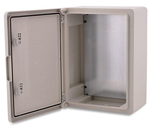 BOXEXPERT ABS Kunststoff Gehäuse Fleet Schaltschrank IP65 grau/transparent (ABS, 400x300x170 grau)