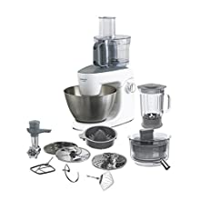 Kenwood MultiOne, Stand Mixer for Baking, All in One Kitchen Machine with K-Beater, Dough Hook, Balloon Whisk, Juicer, Blender and 4.3 Litre Bowl, KHH326WH, White