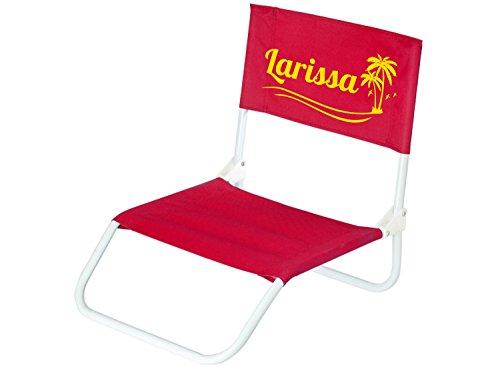 Klappbarer leichter Strandstuhl mit Name bedruckt, rot, maritim, zum Geburtstag, Männertag, Ruhestand, Pause, Urlaub, Strand, Festival, Camping