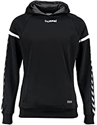 Hummel AUTH. Charge Poly Hoodie – Black, color negro, tamaño extra-large