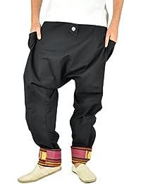 virblatt Pantalones cagados Mujer Harem Pants Pantalones Anchos Baggy -  Freudentanz 052dfa18c11b