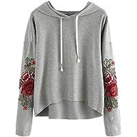 Damen Sweatshirt,Geili Frauen Mode Applique Sweatshirt Damen Freizeit Langarm Bluse mit Kapuze Pullover Tops Shirt... preisvergleich bei billige-tabletten.eu
