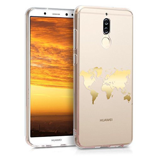 kwmobile Huawei Mate 10 Lite Hülle - Handyhülle für Huawei Mate 10 Lite - Handy Case in Gold Transparent