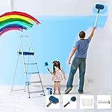 Essort Rullo per Pittura con Serbatoio, Rulli per Verniciare, Pennello a Rullo da Pittura, 6 Set di Kit per Pittura Murale Blu Venduto da Coolroom