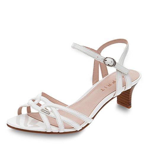 Esprit, Damen - Sandalette, Birkin, 037EK1W004-100 (39 EU, weiß)