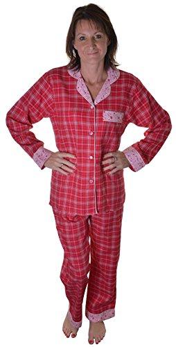 Dannii Matthews Damen Schlafanzug Raspberry Check