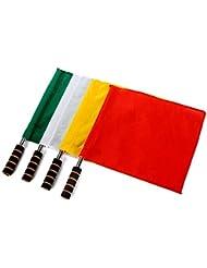 fourHeart 4 piezas de banderas de fútbol, Rugby Linesman Banderas Árbitros Equipos auxiliares Small Signal Flag
