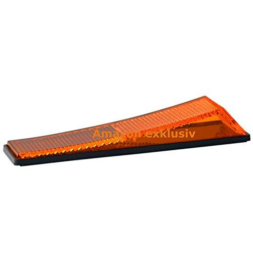 Reflektor Rückstrahler Katzenauge Türstopper orange 12,5 x 3,5 cm