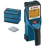 Bosch Professional 601010005 D-tect Escáner de Pared, óptima Profundidad de detección Madera, Cables con tensión, Tubos de plástico, Metal, 40, 60, 80, 150mm, 4 Pilas AA, con Funda, en Caja, Azul