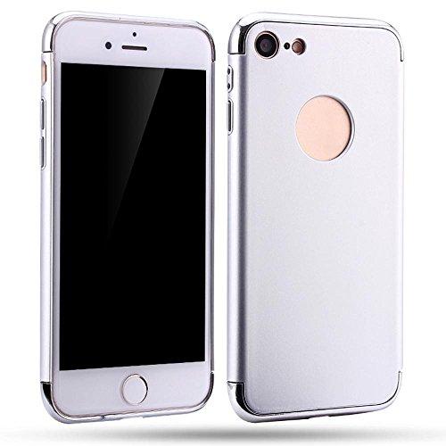 Ouneed® Für iPhone 7 Hülle, Neues Licht 3 in 1 Thin Enge Einbau Case für das iPhone 7/ 4.7 Zoll (Roségold) Silber