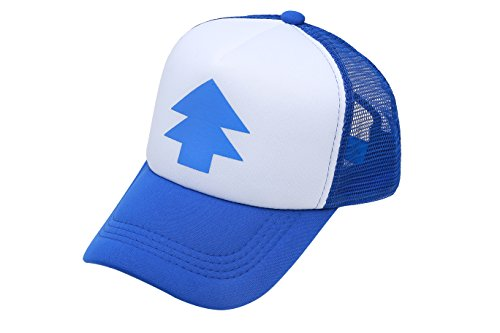 655515495a4 Dipper Gravity Falls Cartoon New Curved Bill Blue Pine Tree Hat Cap Trucker