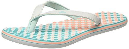 adidas Eezay Dots W, Tongs Femme Multicolore - Gris / Rosa (Grpulg / Vertra / Brisol)