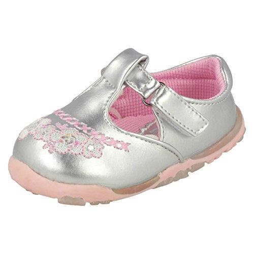 Cutie , Baby Mädchen Lauflernschuhe, Mehrfarbig - Silver/Pink - Größe: 2 Baby UK -