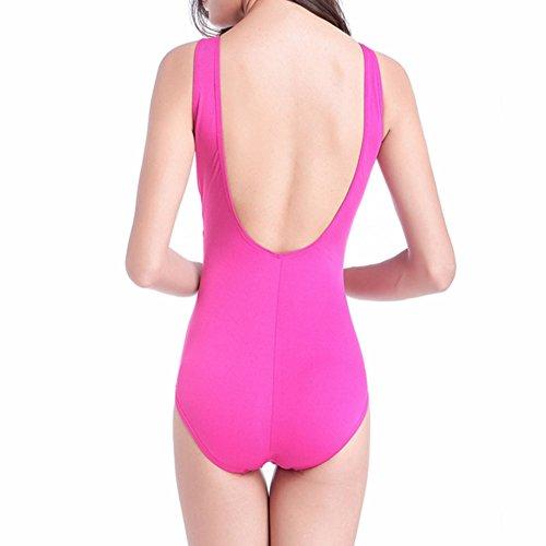Haodasi Frau Halter Ein Stück Badeanzug Hochdrücken Gepolstert Bikini  Strand Bademode Unterwäsche Rose Red