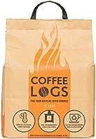 Coffee Logs–16tronchi di combustibile per l'inverno realizzati con caffè riciclato, bruciano più a lungo e ad una...