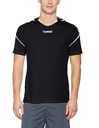 Hummel Herren Auth Charge SS Poly Jersey Trikot, Black, M