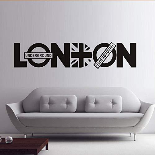 fkleber Land Karte Buchstaben Kunst Design Vinyl Aufkleber Muraux Für Wohnzimmer Büro Zubehör 53x44 cm ()