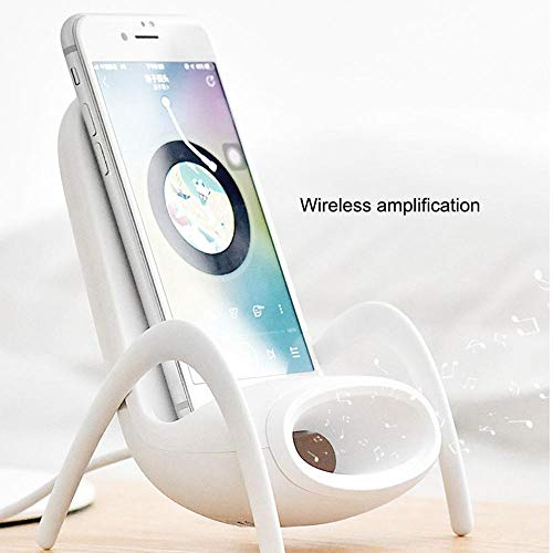 Wireless Charger Station For IPhone8 / 8 Plus X XS Max, DokFin Qi Wireless Charging Stand For HuaWei SumSung All Wireless Charge Function Smart Phones, Voice Amplification Phone Holder For Watching TV Message Waiting Indicator Light