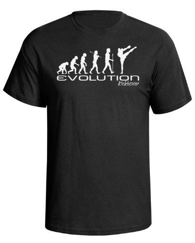 Evolution of kickboxer Mens Camiseta Para Hombre kickboxing