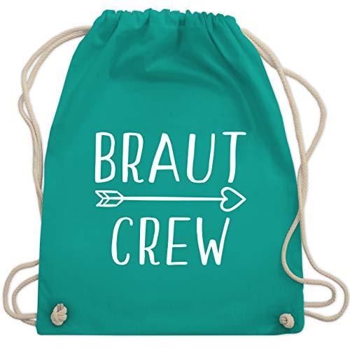 JGA Junggesellinnenabschied - Braut Crew Pfeile - Unisize - Türkis - WM110 - Turnbeutel & Gym Bag