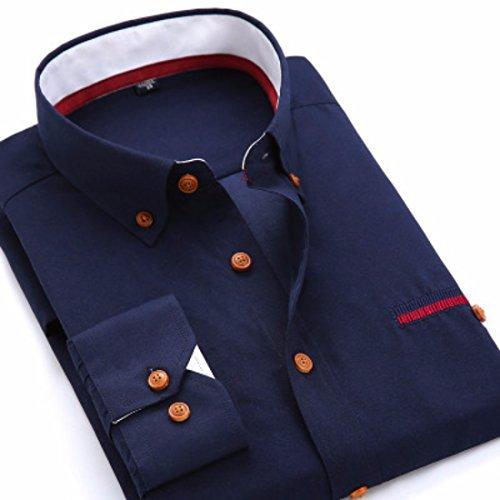 Mens Herren Hemden Wihte Formal Imported Shirts CK18
