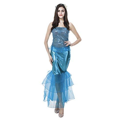 Frauen Sexy Meerjungfrau Halloween (Meerjungfrau Frauen Kostüme)