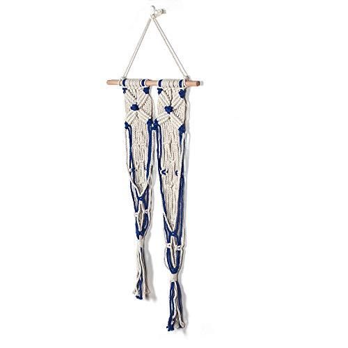 lumentopf-Netzbeutel-hängender Korb, Wandbehang-Blumentopf-handgemachte Makramee-Wandbehänge Gesponnener Wandbaumwollbehang Gesponnener Wandteppich ()