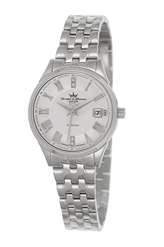 Yonger & Bresson – DMC 1690/02 Ladies Watch – Analogue Quartz – White Dial – Steel Bracelet Silver