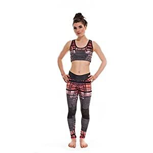 RobeCode Damen Leggins Parcours - Sport Yoga Fitness Laufen