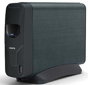 Captiva HDMI externe Multimedia Festplatte USB 2.0 2000GB, spielt alle gängigen Formate ab, mit HDMI, hier bereits mit 2000 GB Markenfestplatte bestückt