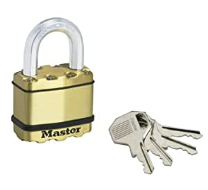 Master Lock M5BEURD Excell Cadenas laminé Finition laiton 50 mm